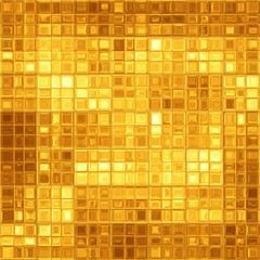 Abstract golden mosaic
