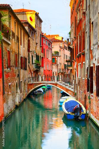 Poster Venetie Narrow canal in Venice