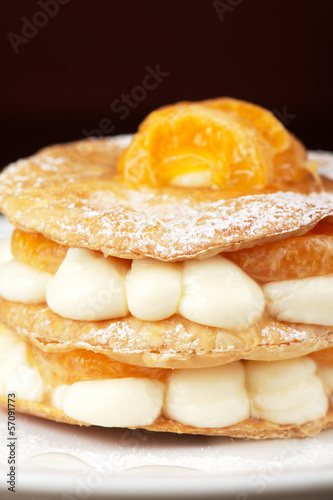 millefeuille with tangerine