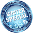 "Button ""Winterspecial"" blau"