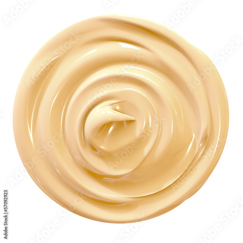 condensed milk isolated on white