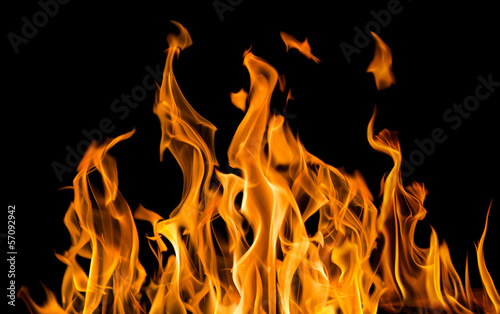 Papiers peints Feu, Flamme yellow fire sparks isolated on black