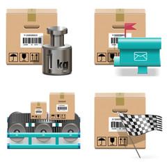 Vector Shipment Icons Set 17