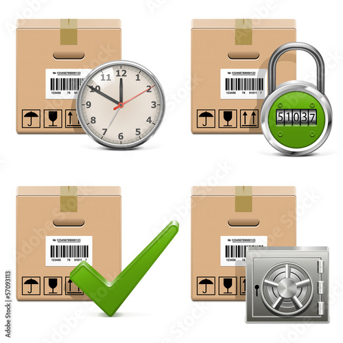 Vector Shipment Icons Set 16