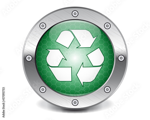 Techno recycling button