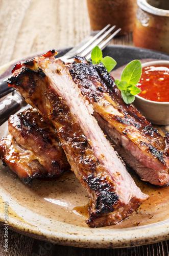 spare ribs gegrillt