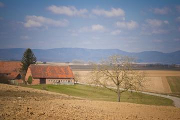 Landschaft im Elsass in der nähe von Seebach