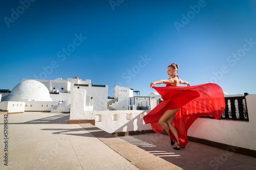 Tuinposter Gymnastiek Flamenco dancer