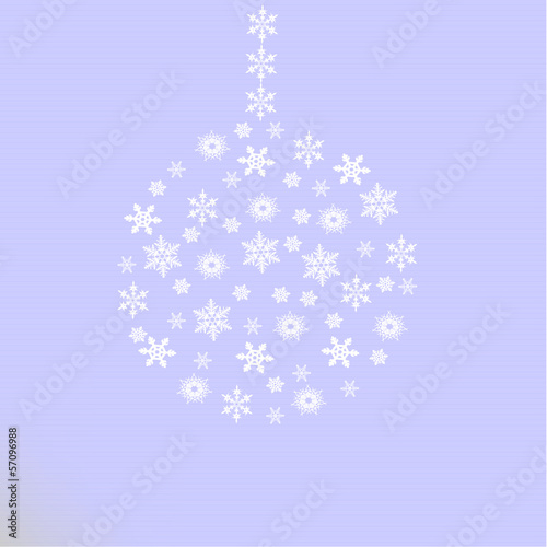 vector ball of snowflakes