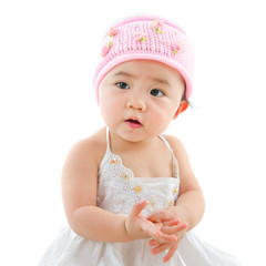 Portrait of cute Asian baby girl
