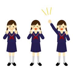 応援する女の子 / student