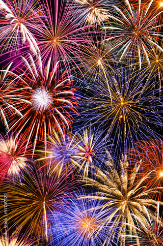 Fireworks Background - 57097122