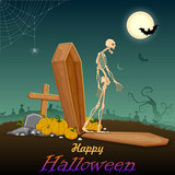 Skelton in Halloween night