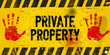 private property, warning sign