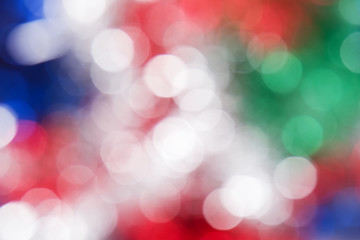 Red, white, green and blue circle background