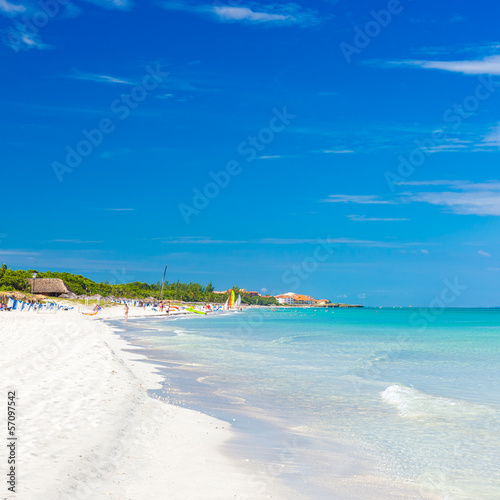 The beautiful beach of Varadero in Cuba
