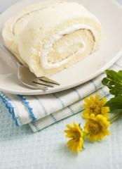 Vanilla roll cakes