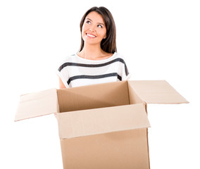 Thoughtful woman moving