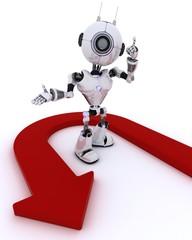 Robot wth u turn arrow