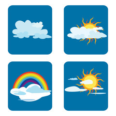 Weather forecast Vector Illustration.
