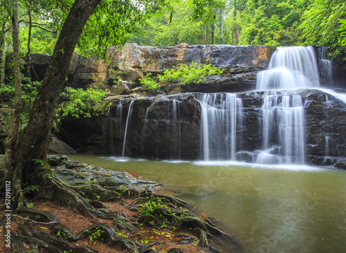 "beautiful Deep forest waterfall call ""Pangsida waterfall"""