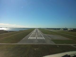 Landeanflug Venedig Pilotensicht