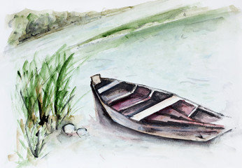 River and boat