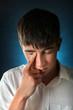 Sad Teenager Weeping