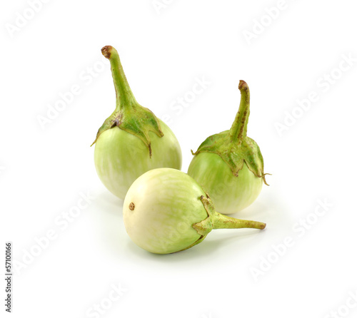 Eggplant on a white background.
