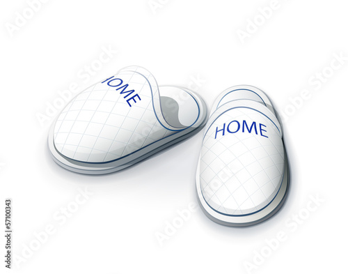 Slippers. vector illustration on white background EPS10.