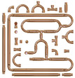 Copper pipe fittings set - 57100514