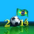 Fussball 2014 - Brasilien - Flagge