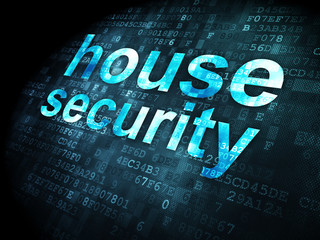 Privacy concept: House Security on digital background