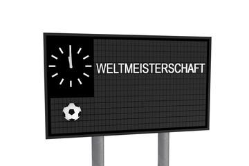 Fussballplatz - Tafel