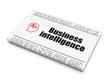 Finance news concept: newspaper with Business Intelligence and H