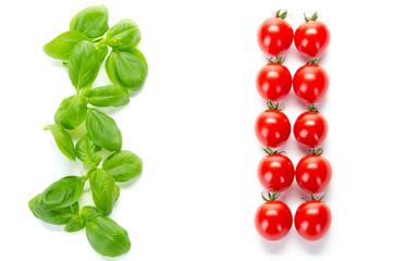 gemüse in italienischen Nationalfarben