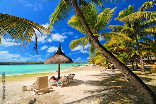canvas print picture Mauritius