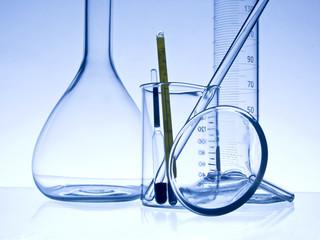 close-up chemistry glassware