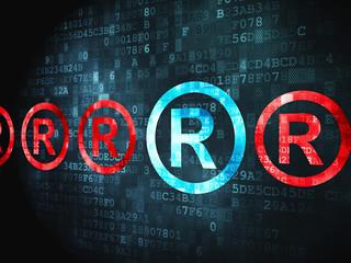 Law concept: Registered on digital background