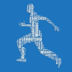 Running man Word cloud typography text word art vector illustrat