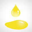 Drop and spill of sunflower oil