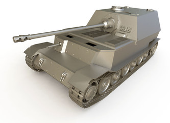 3d tank isolated on white background