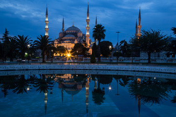 Blue Mosque, Istanbul, in dawn's early light.