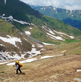 Ascent to the pass, Northern Caucasus