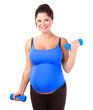 Pregnant woman do exercise