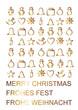weihnachtliche Symbole ind Gold