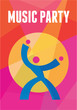 Music Party Poster - Abstract Vector Background