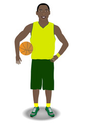 African American Basketball Player