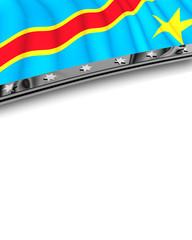 Designelement Flagge Demokratische Republik Kongo