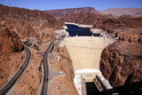 Hoover Dam, Lake Mead and highway